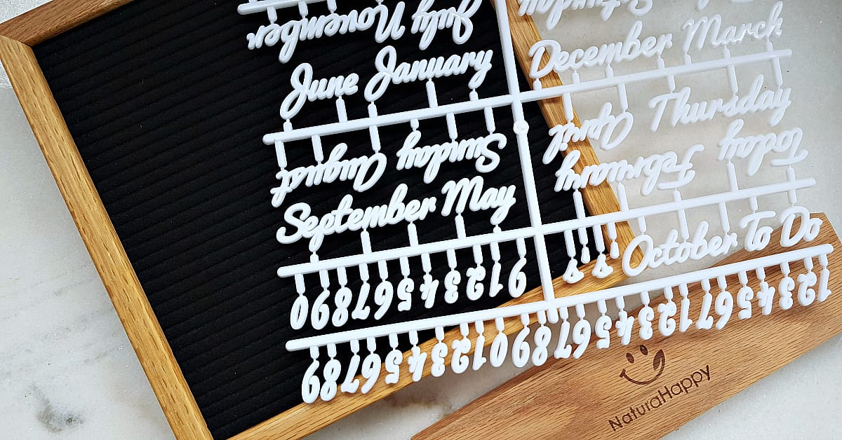2 letter board set