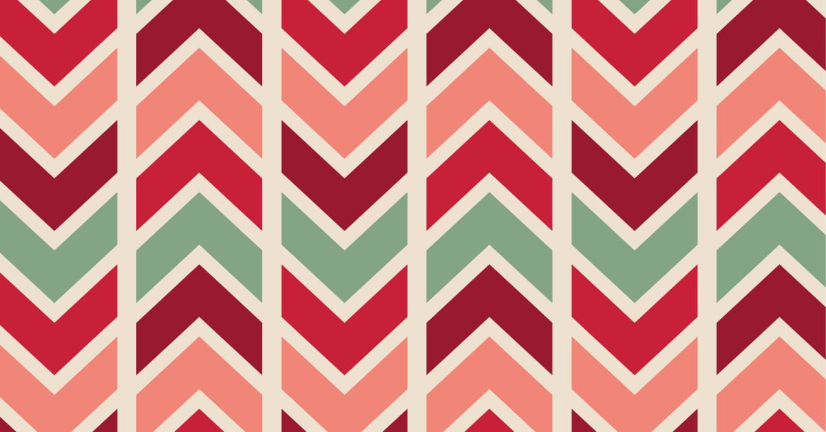 feature chevron holiday