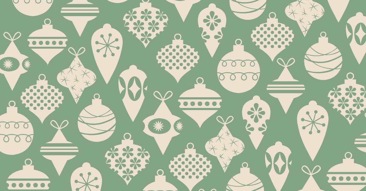 feature green ornaments
