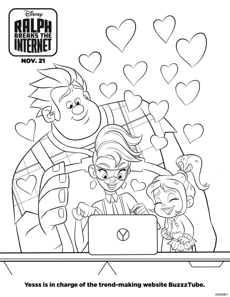 free yesss coloring page
