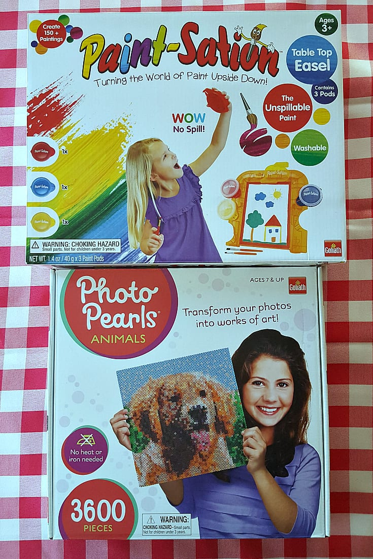 Goliath Games Paint Station and Photo Pearls Craft Kits