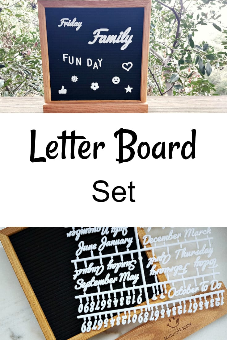 Letter Board Set from Natura Happy