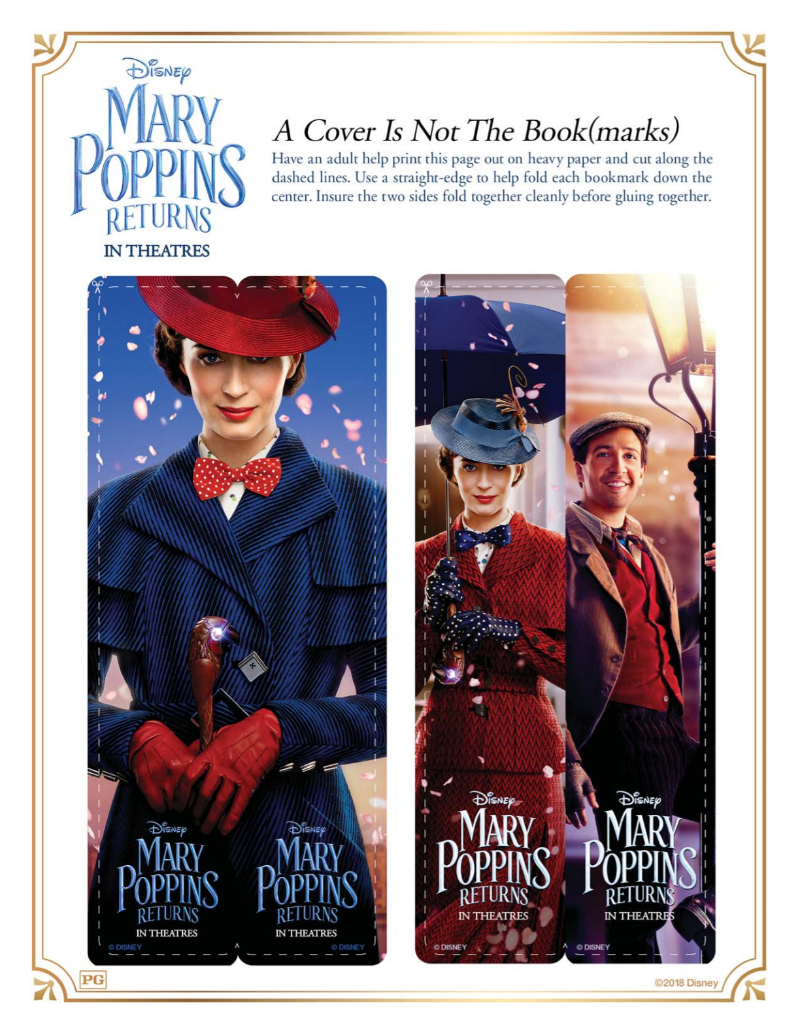1 mary poppins bookmarks