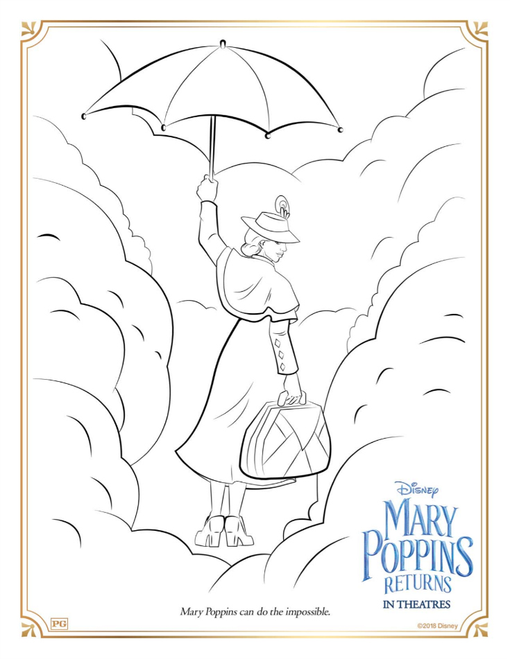 1 mary poppins coloring page