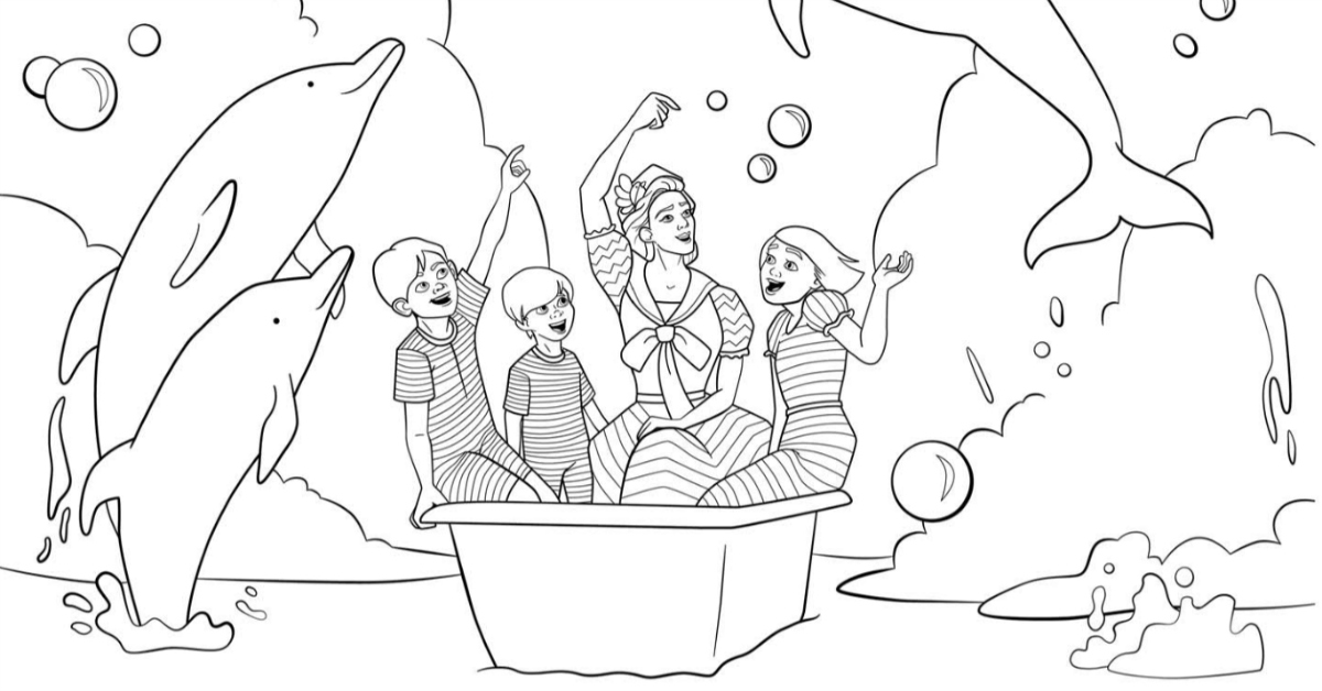 Mary Poppins Bath Time Coloring Page   Mama Likes This