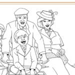 Mary Poppins Bicycle Ride Coloring Page