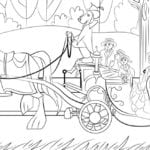 Mary Poppins Carriage Ride Coloring Page