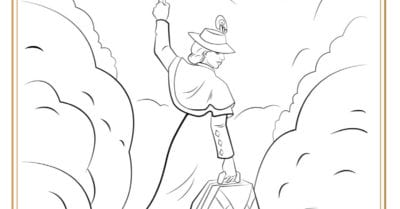 feature mary poppins coloring page