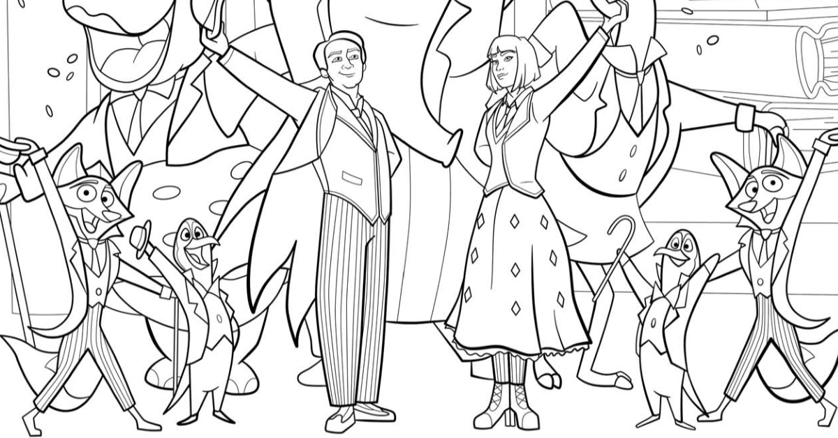 Mary Poppins Music Hall Coloring Page | Mama Likes This