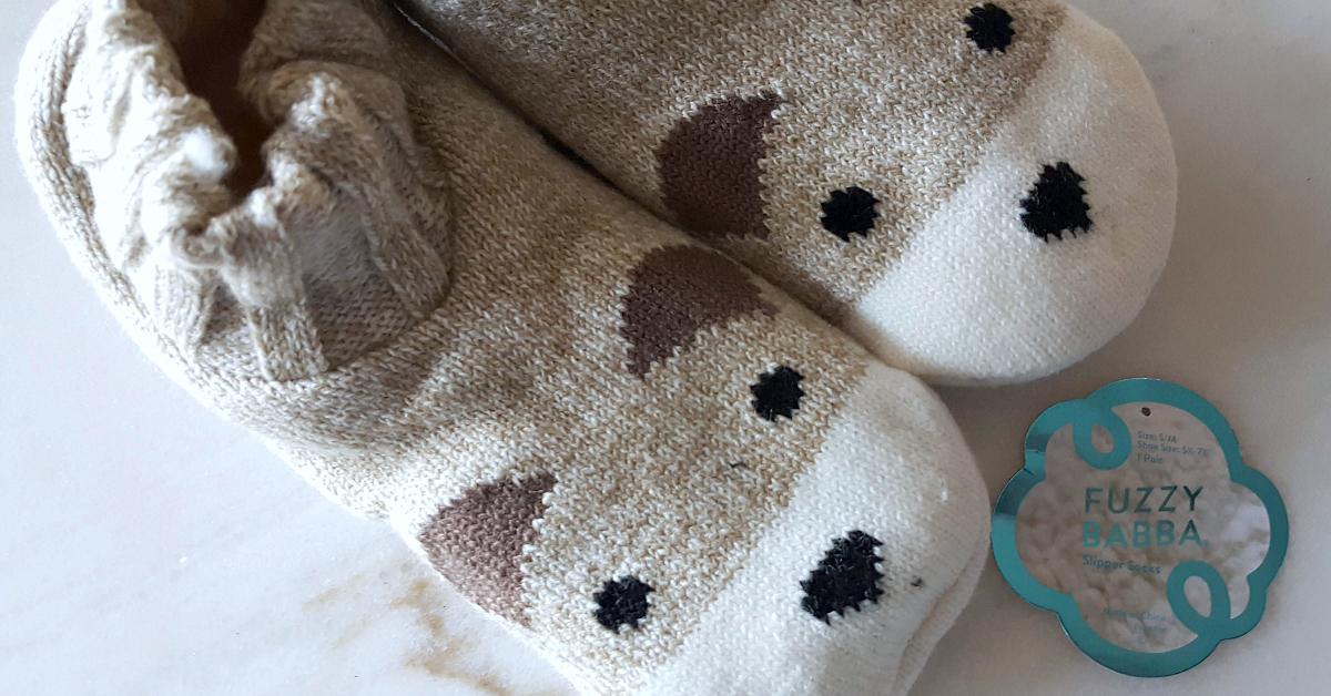 blushcon fuzzy babba slipper socks