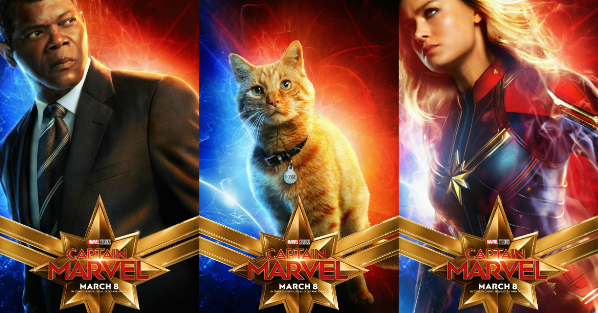feature captain marvel characters posters