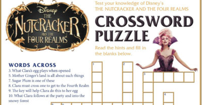 feature disney nutcracker crossword puzzle