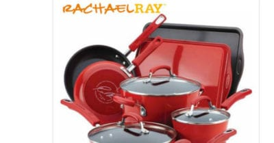 feature rachael ray red cookware