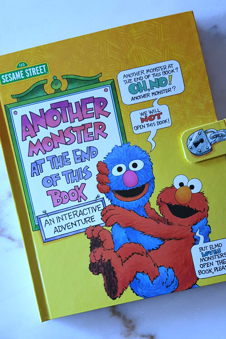 Sesame Street Monster Book - Another Monster At The End of This Book by Jon Stone for children ages 3-5