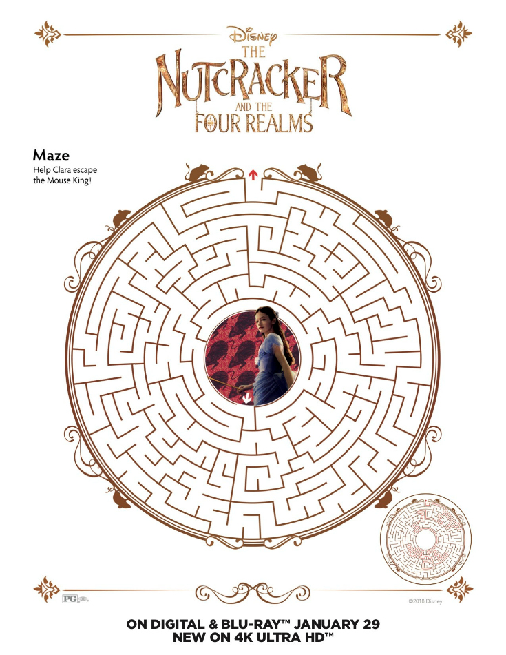 Free Printable Disney Nutcracker and the Four Realms Maze