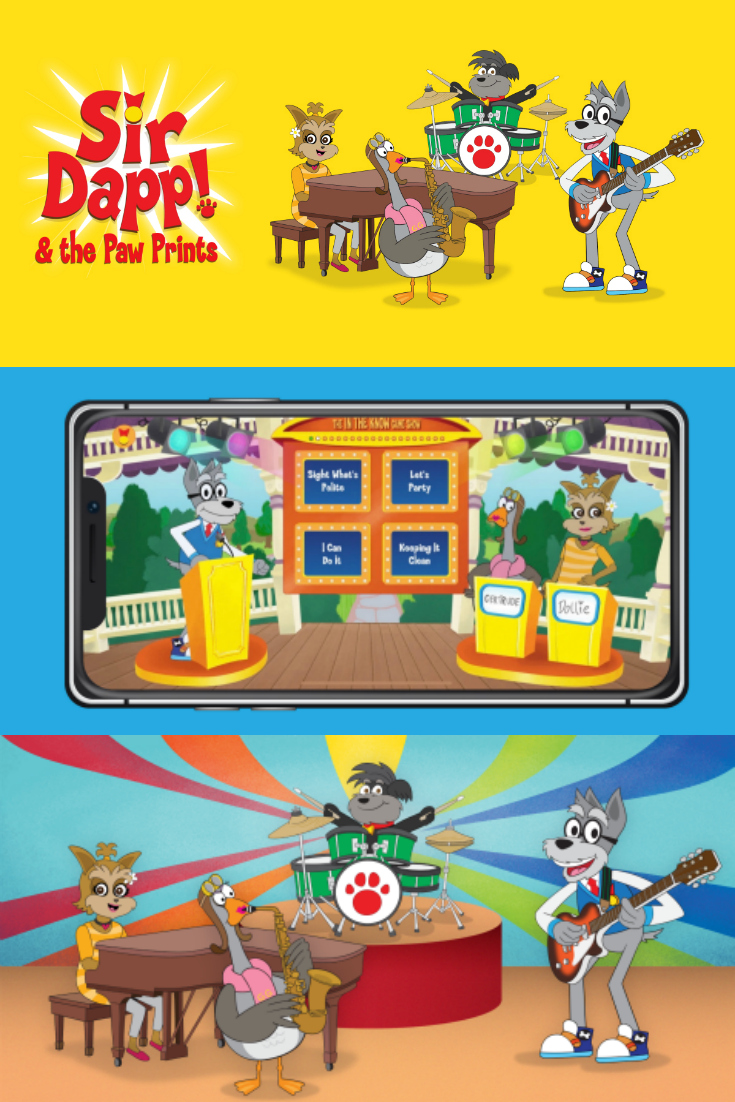 Sir Dapp Educational Game Show App for kids available on iTunes and the Google Play Store. Sir Dapp! and The Paw Prints.