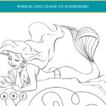 Little Mermaid Flounder Activity Page