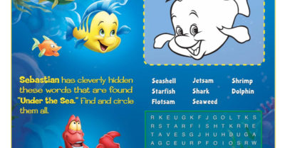 feature little mermaid activities page