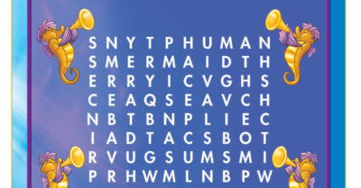 feature little mermaid word search