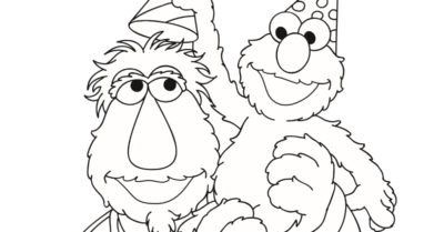 feature sesame street birthday coloring page