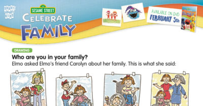 feature sesame street family activity page