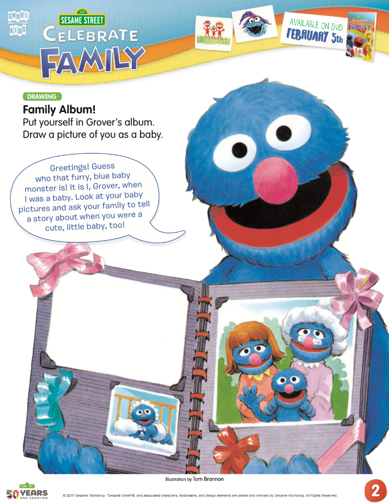 full sesame street family album