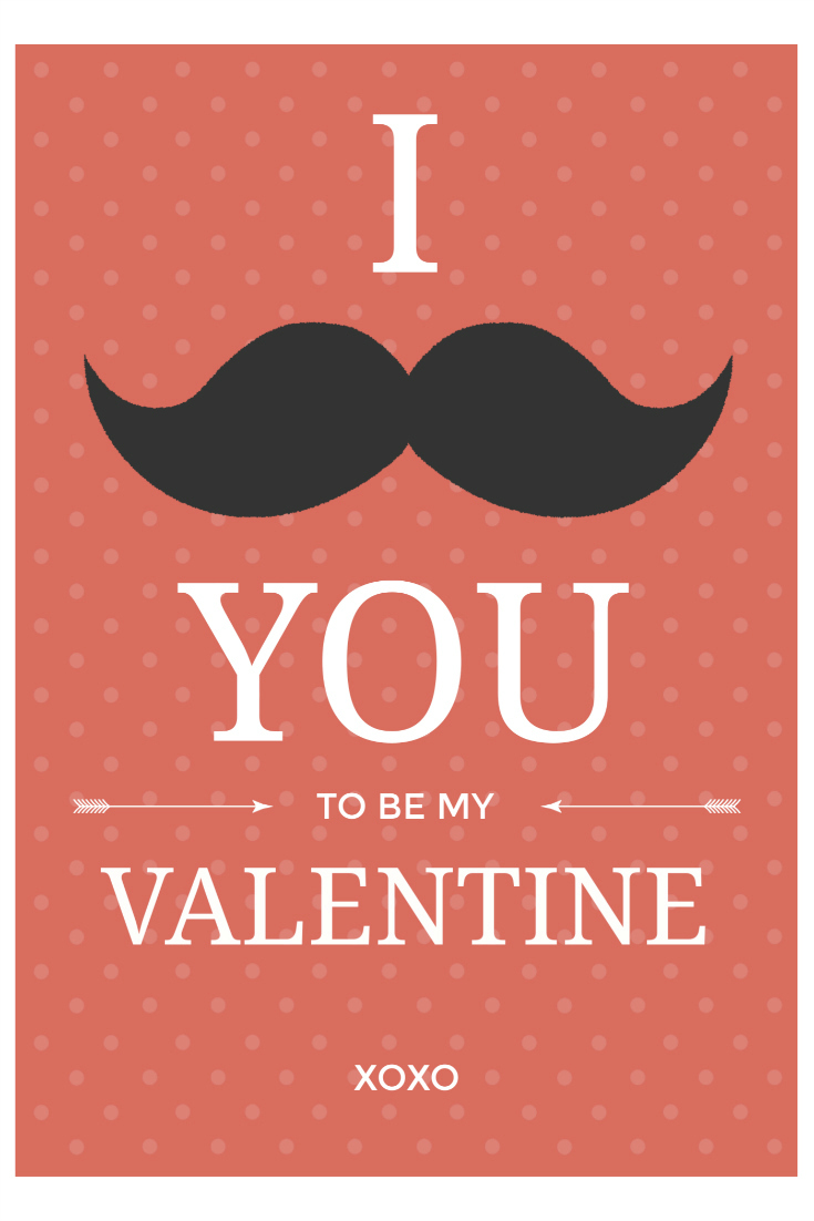 pin free printable mustache valentine