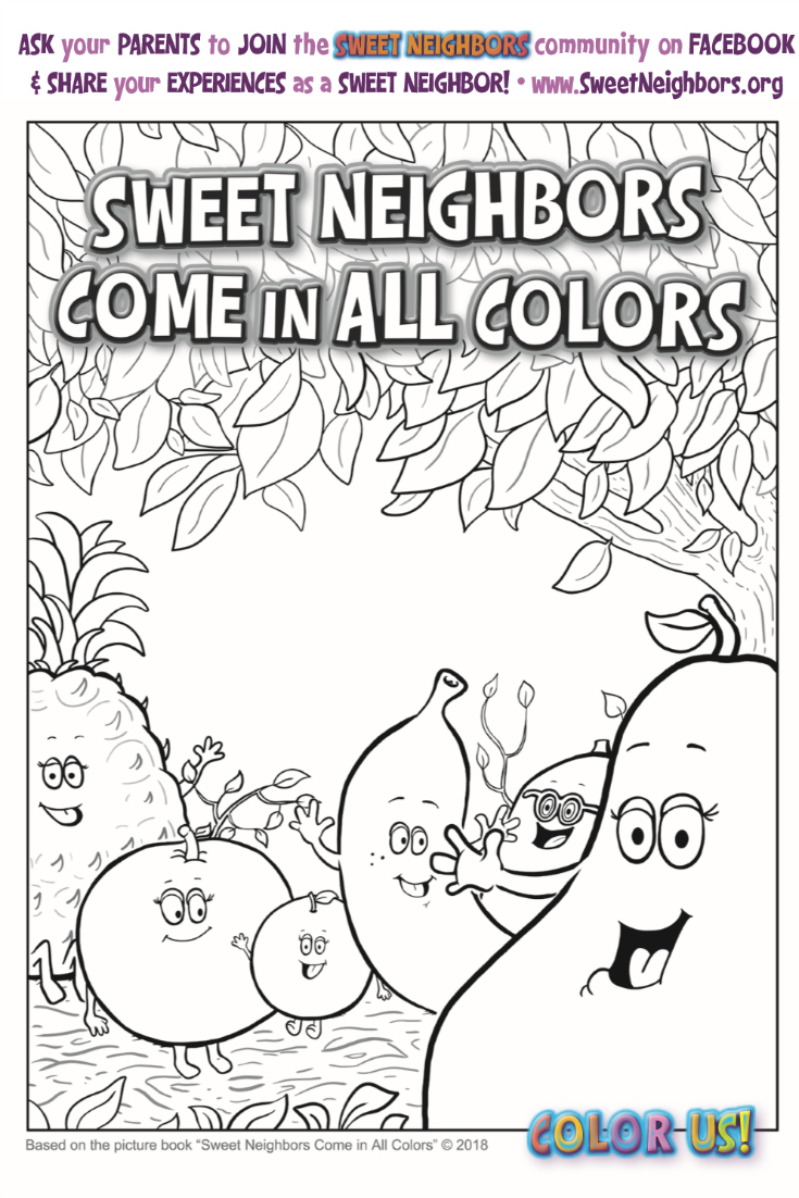 pin fruit coloring page