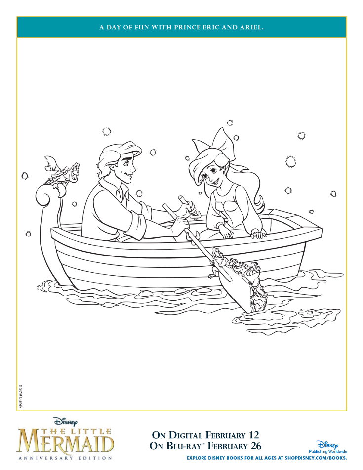 pin prince eric coloring page