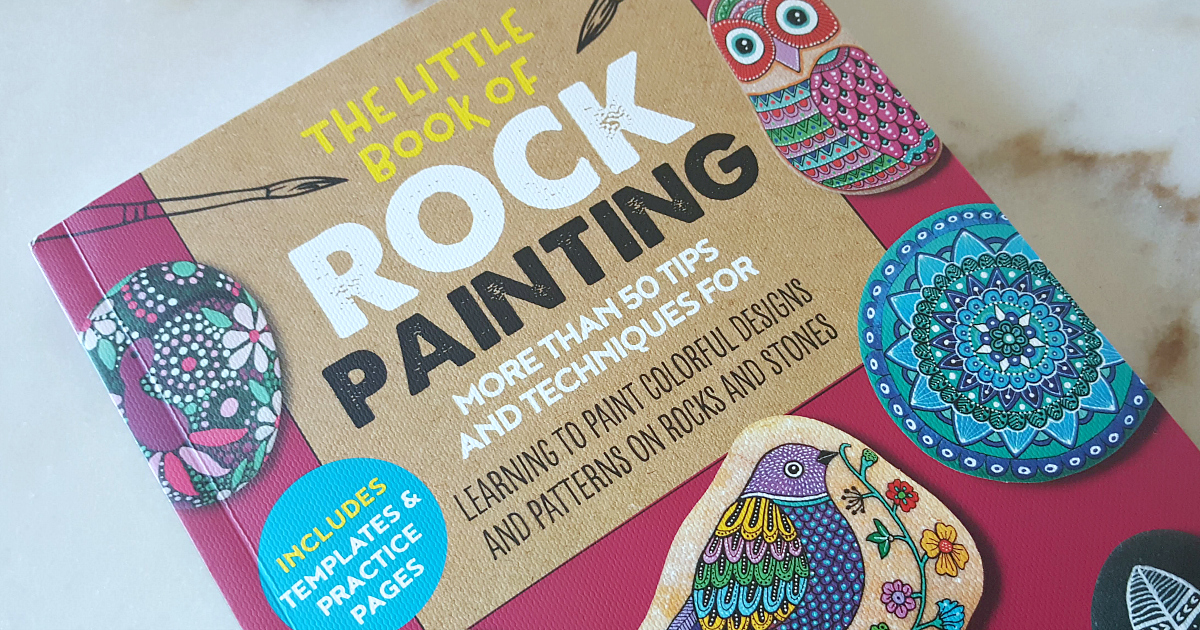book rock painting feature