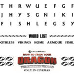 HTTYD Word Search – Free Printable from The Movie