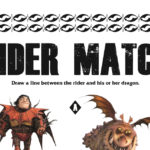 Dragon Matching Game Activity Page from HTTYD3