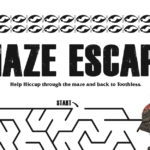 Free HTTYD Printable Dragon Maze