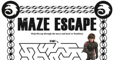 feature dragon maze escape