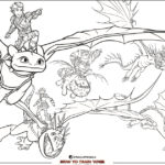 Dragons Coloring Page from How To Train Your Dragon