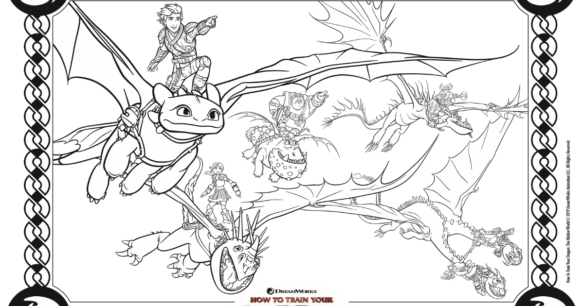 Dragons Coloring Page from How To Train Your Dragon | Mama ...