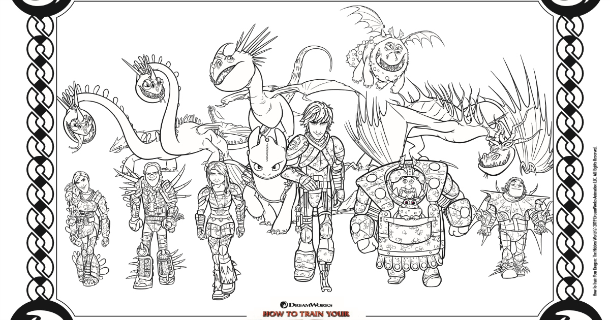 HTTYD Coloring Page - Free Printable Activity | Mama Likes ...
