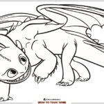 Toothless Coloring Page – How To Train Your Dragon 3