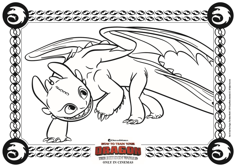 - Toothless Coloring Page - How To Train Your Dragon 3 Mama Likes This