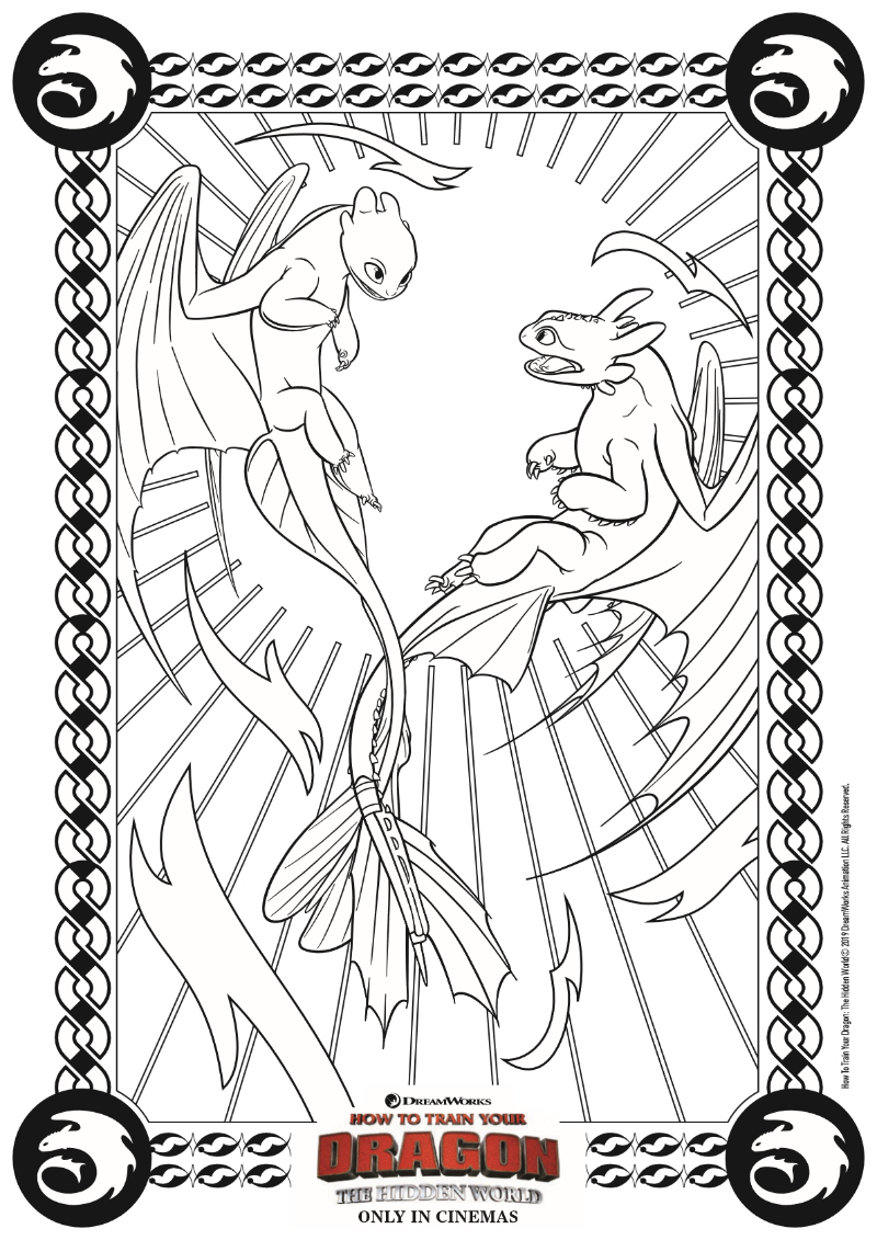 Dragon Coloring Page from How To