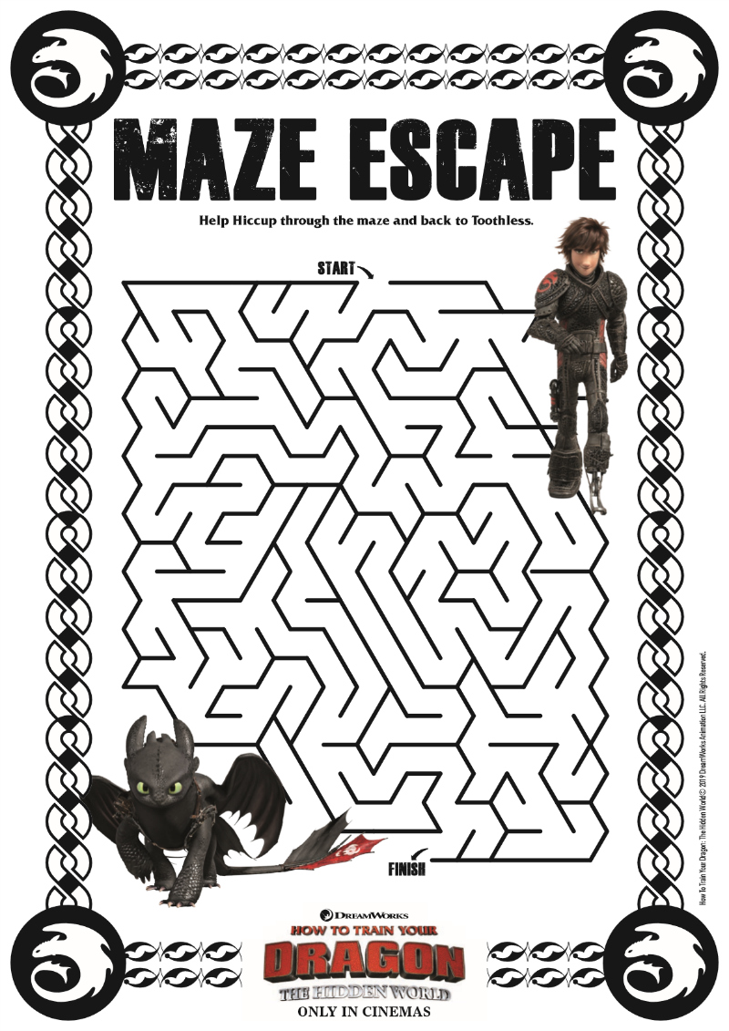 pin dragon maze escape