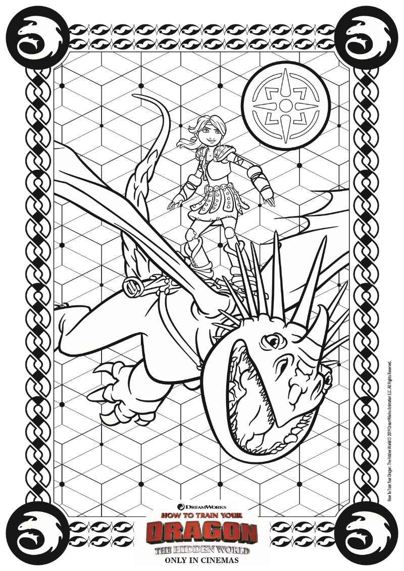 pin httyd3 coloring page