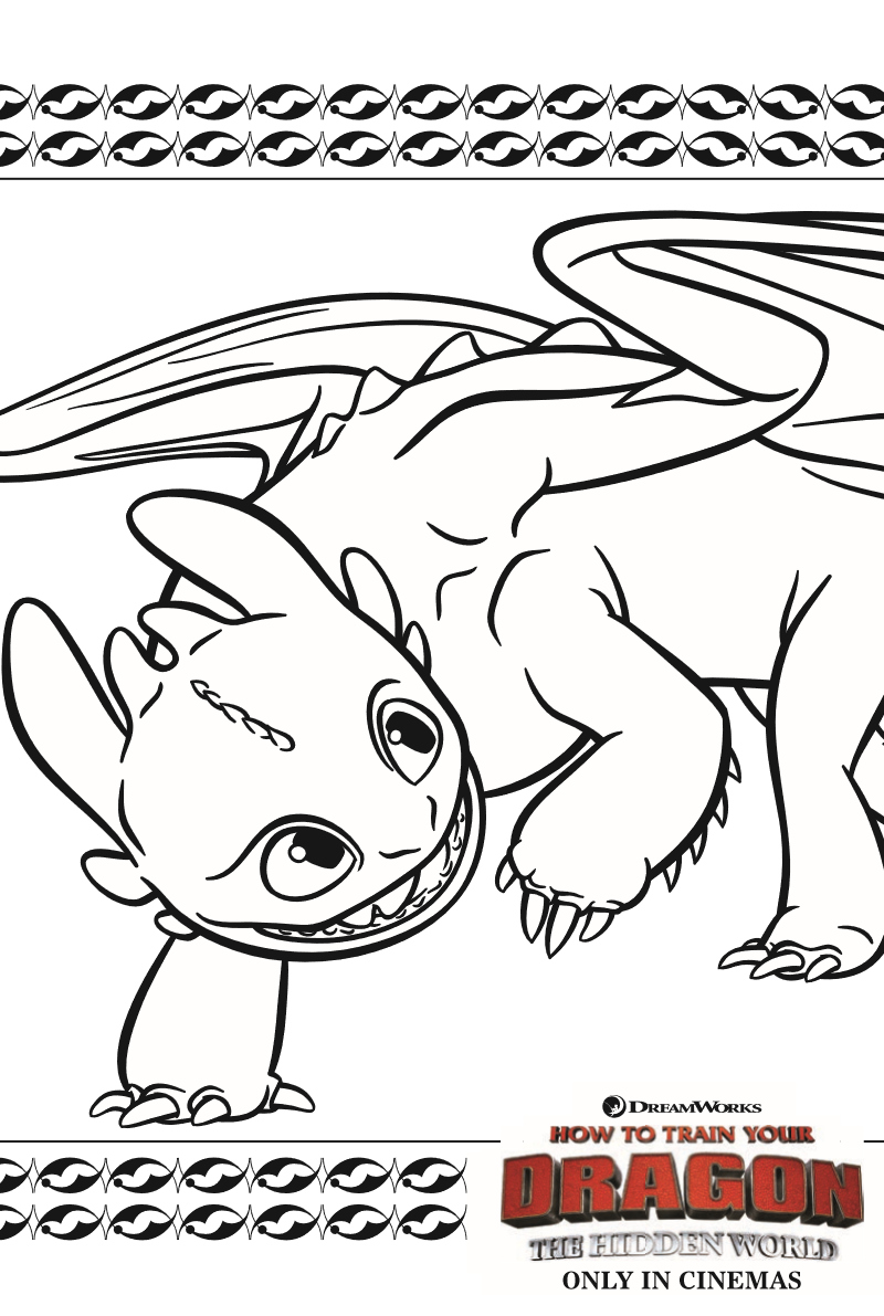 - Hiccup And Toothless Coloring Pages Haramiran