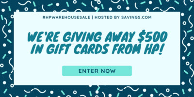 feature hp warehouse sale giveaway