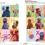 Free Printable Alphabet Cards from Sesame Street