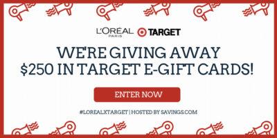 lorealx target gift card giveaway
