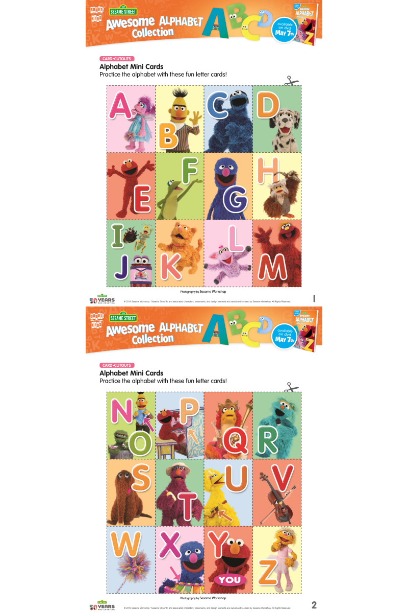 pin sesame street printable alphabet cards
