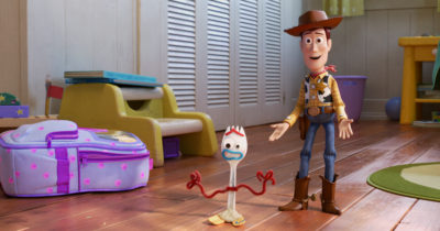 Forky and Woody from Toy Story 4
