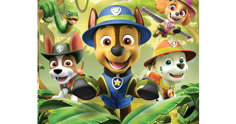 feature paw patrol jungle rescues animated characters