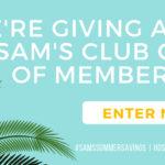 Sams Membership Giveaway – Ends 5/20/19